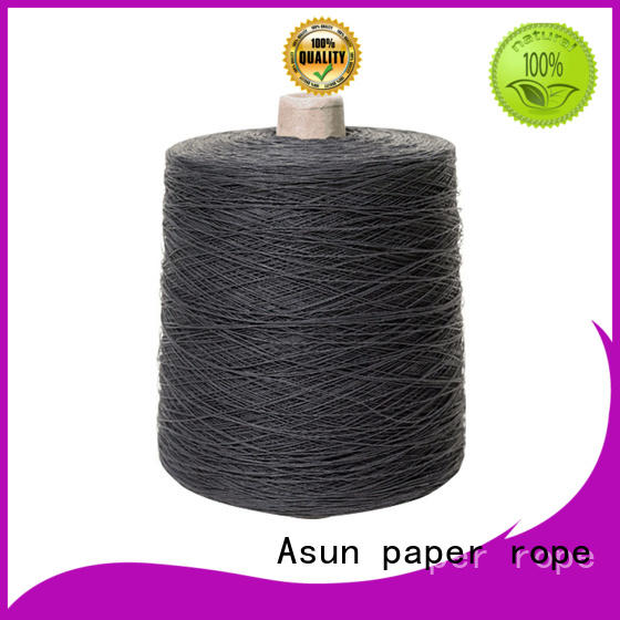Asun paper rope customized newspaper yarn factory for shirts