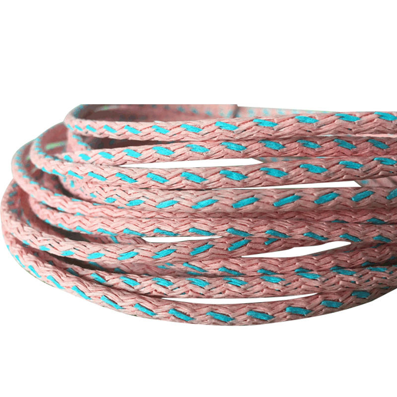 Environmental  hollow or core knitted paper cord