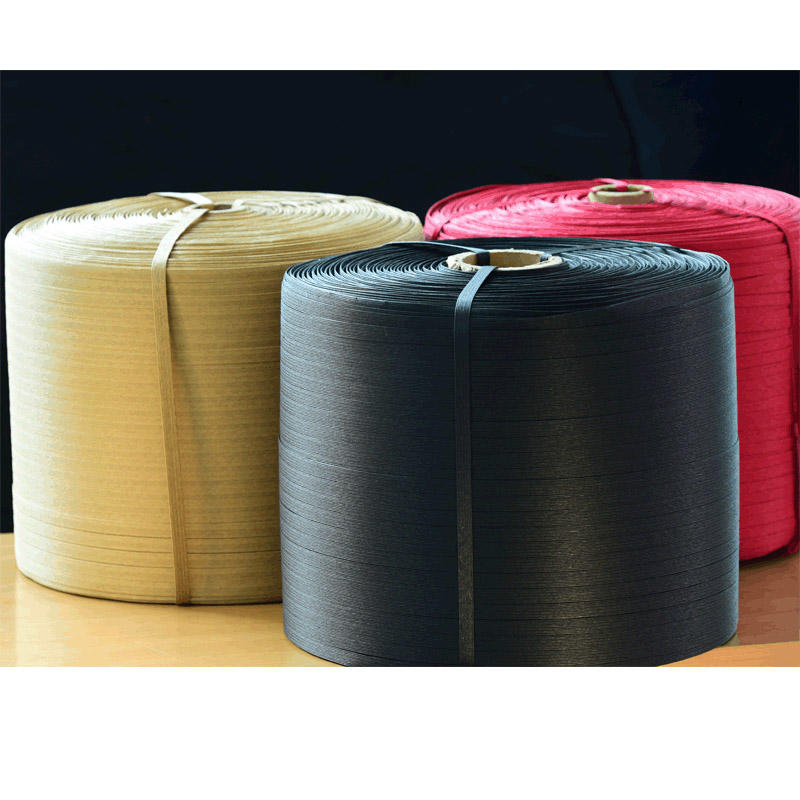 Flat twine paper straps in single color