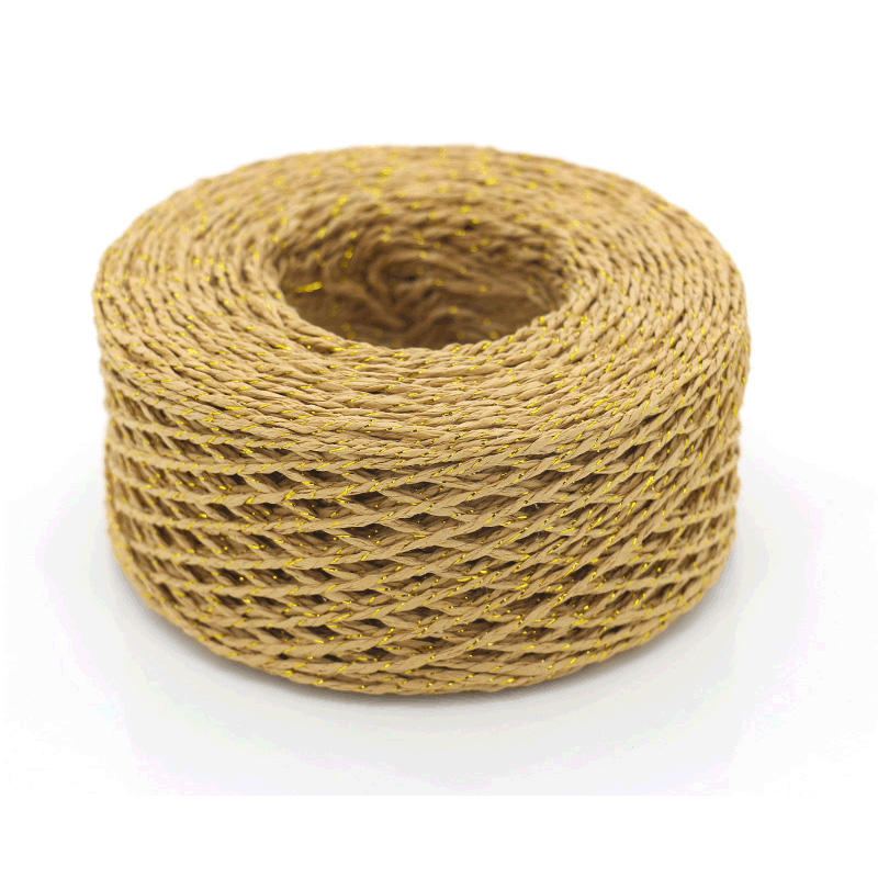 Double or triple twist paper strand