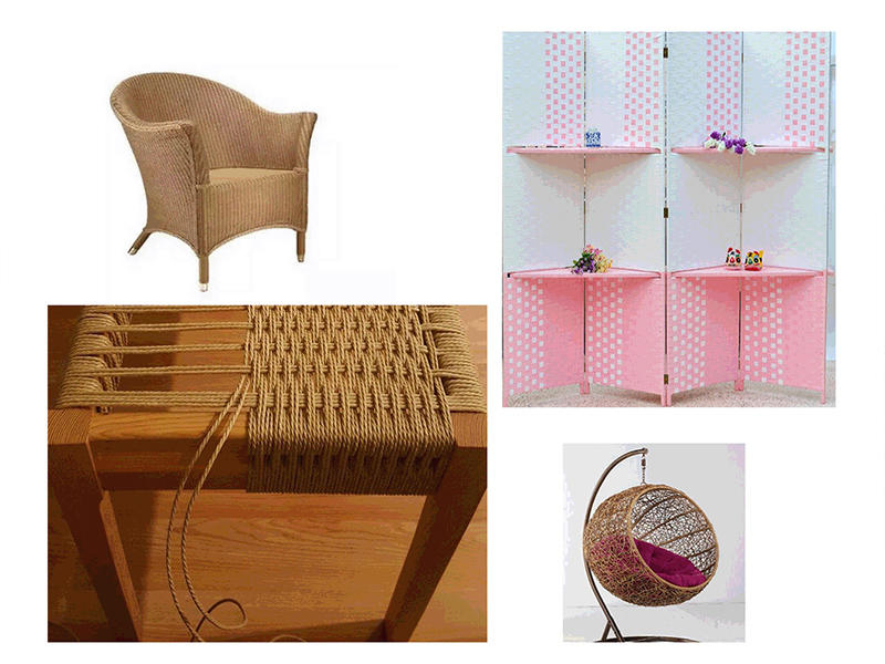 Paper furniture for ensuring a warm winter and cool summer.