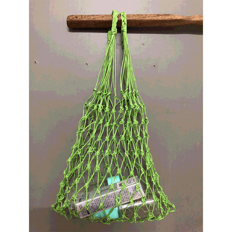 net raffia yarn bag design for indoor