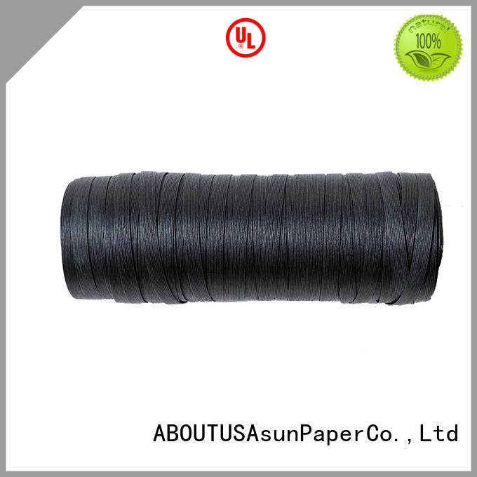 Asun paper rope color paper ribbon wrap supplier for garment accessories