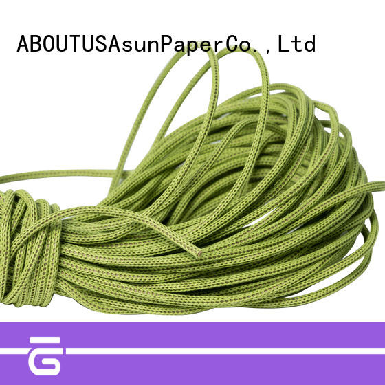 Asun paper rope knitted brown paper twine directly sale for pendant light