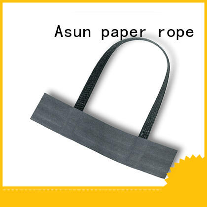 Asun paper rope grocery bag handle customized for flat