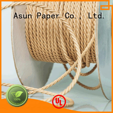Asun paper rope knitted paper rope factory price for led lamp