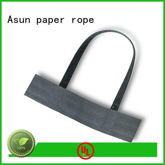 white fashion Asun paper rope Brand paper bag handle rope factory