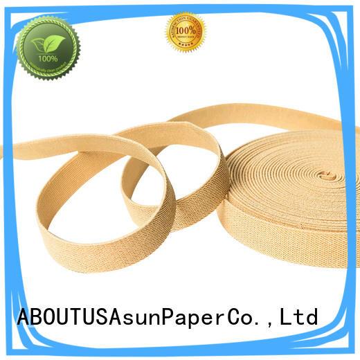 brown paper ribbon for paper handles Asun paper rope