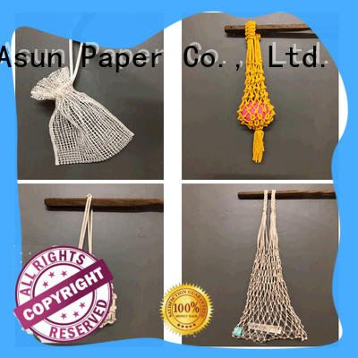 Asun paper rope pure paper string bag with good price for car