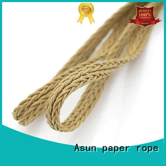 danish paper cord wood pendant light Asun paper rope