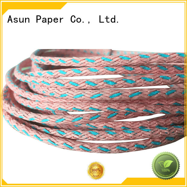 Asun paper rope knitted party paper ribbon supplier for pendant light