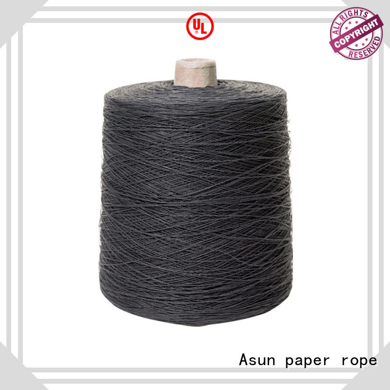 Asun paper rope black newspaper yarn customized casement cloth