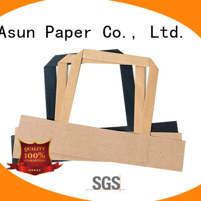 Kraft paper handle with flat wrist