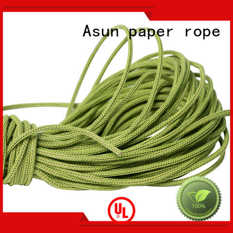 Asun paper rope knitted wired paper ribbon from China for shoes