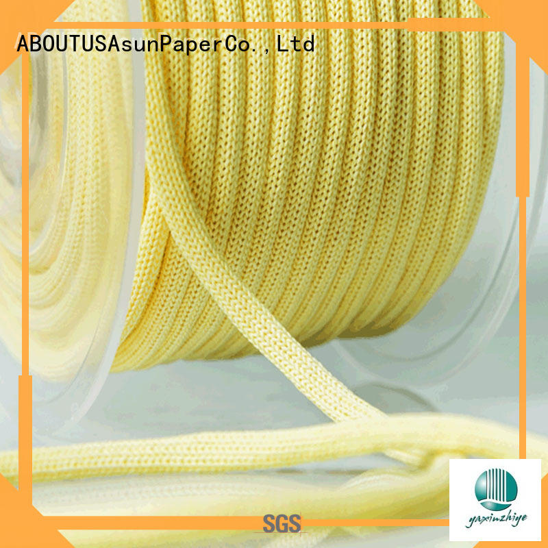 Asun paper rope knitted brown paper twine from China for indoor