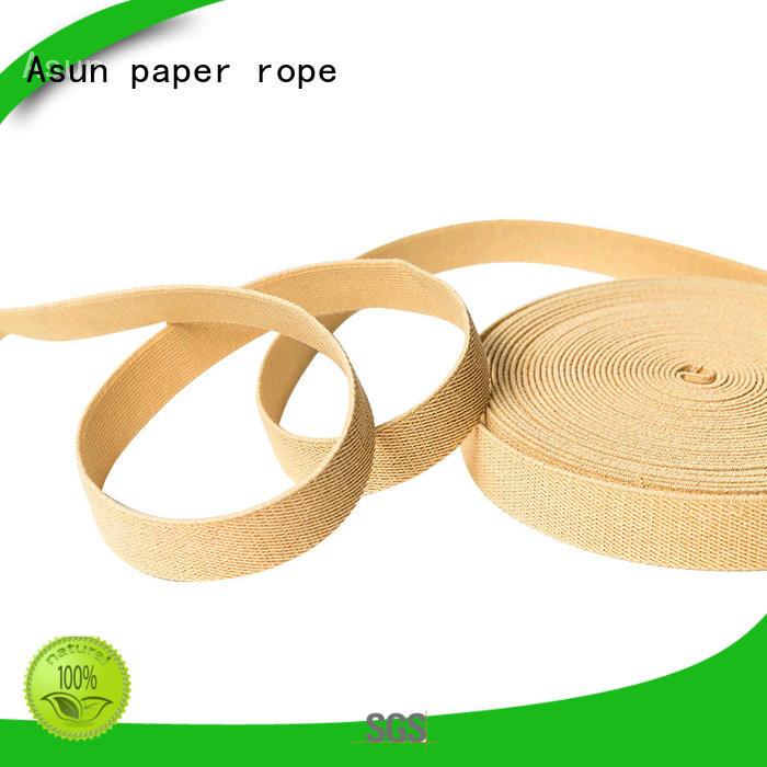 washable paper ribbon environmental flat Asun paper rope company