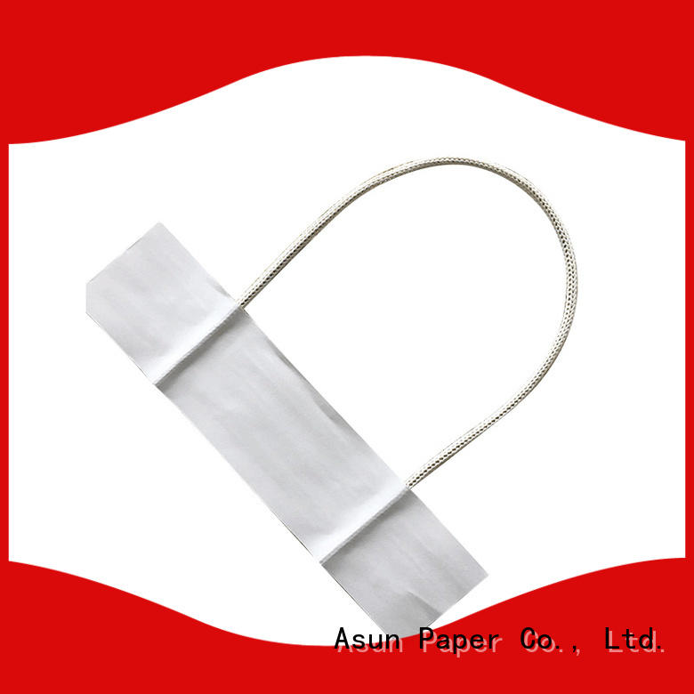 Asun paper rope integrated gift bag handles customized for indoor