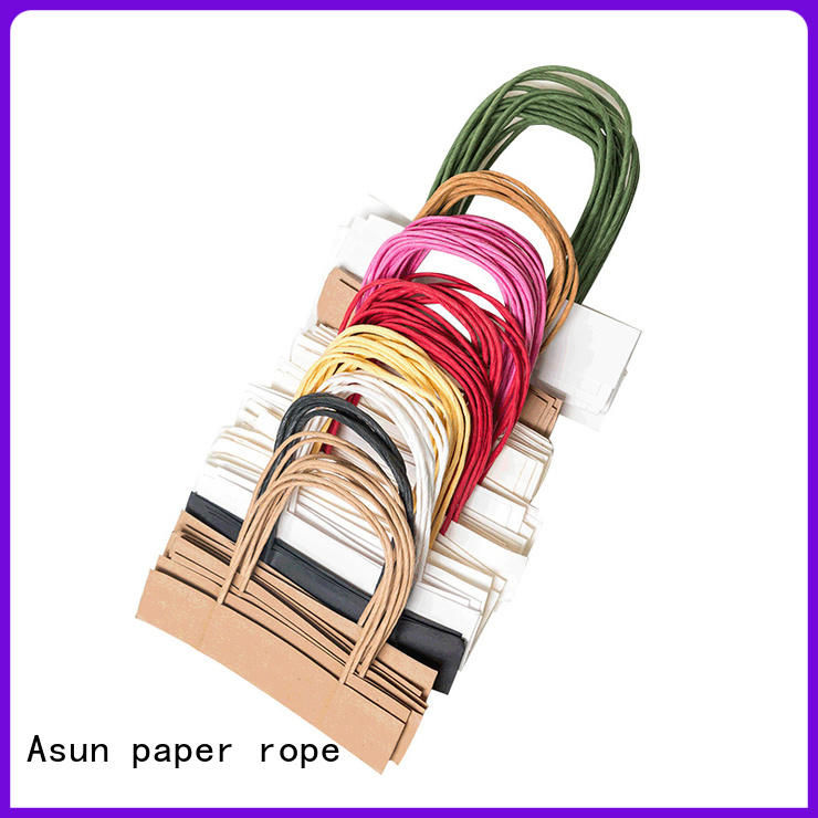 Asun paper rope flat paper handle directly sale for flat