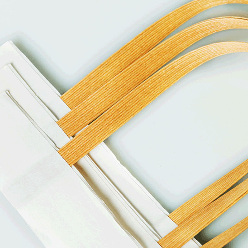 Asun paper rope integrated bag handles wholesale series for flat-1