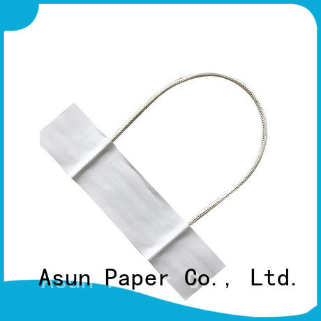 woven paper handle customized for shop