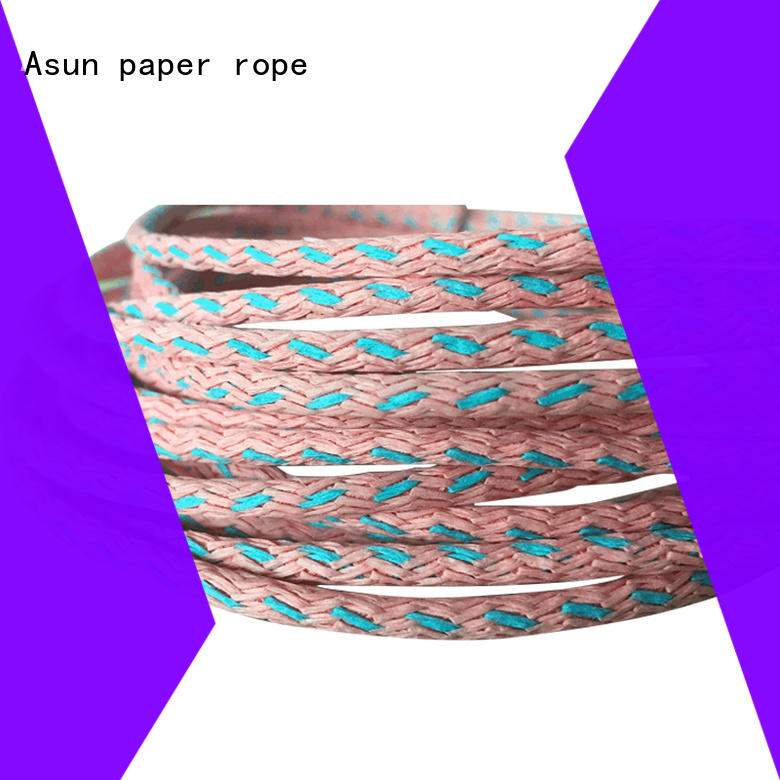 Asun paper rope knitted party paper ribbon supplier for home textile
