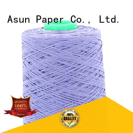 Asun paper rope customized paper yarn black casement cloth