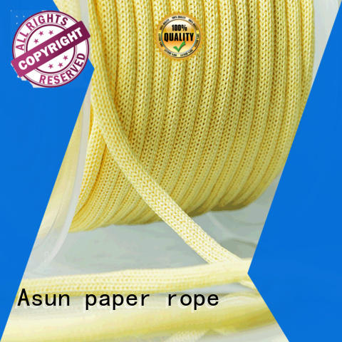 rope wired paper twine wood pendant light Asun paper rope