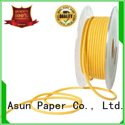 Asun paper rope hollow braided code factory price for garment accessories