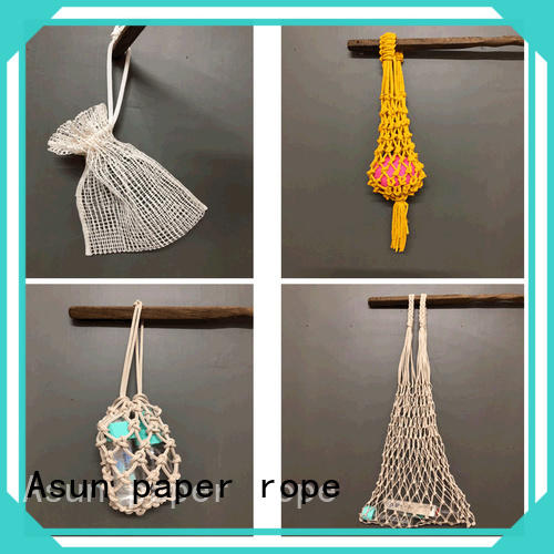 Asun paper rope paper string bag factory for car