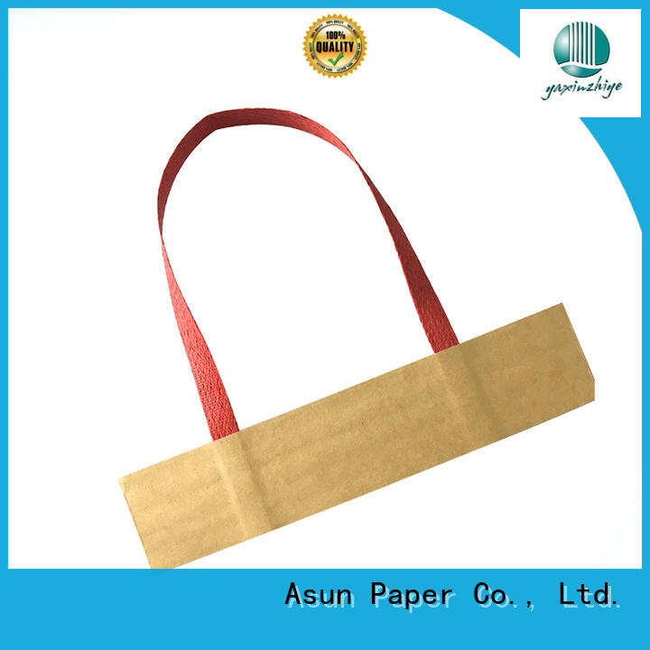 color woven Asun paper rope Brand paper bag handle rope factory