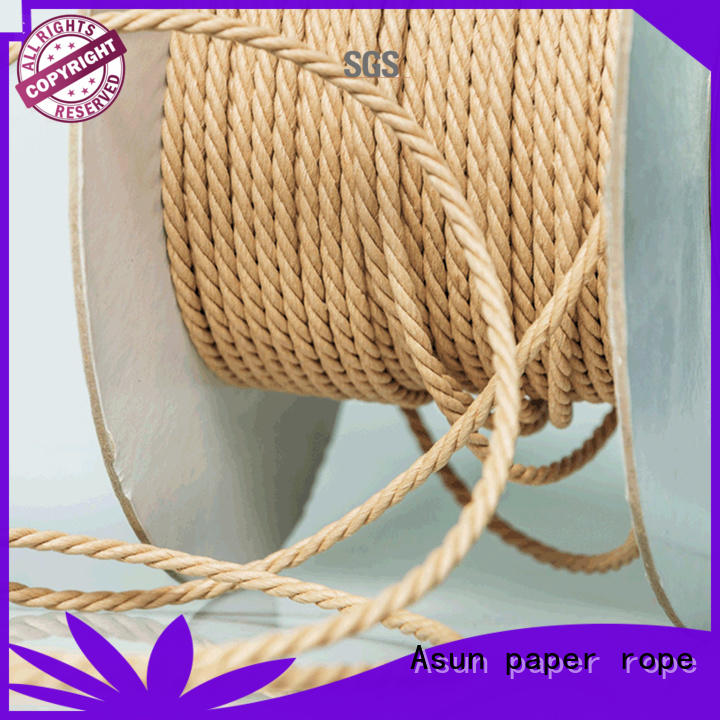 Asun paper rope hollow wired paper cord for led lamp