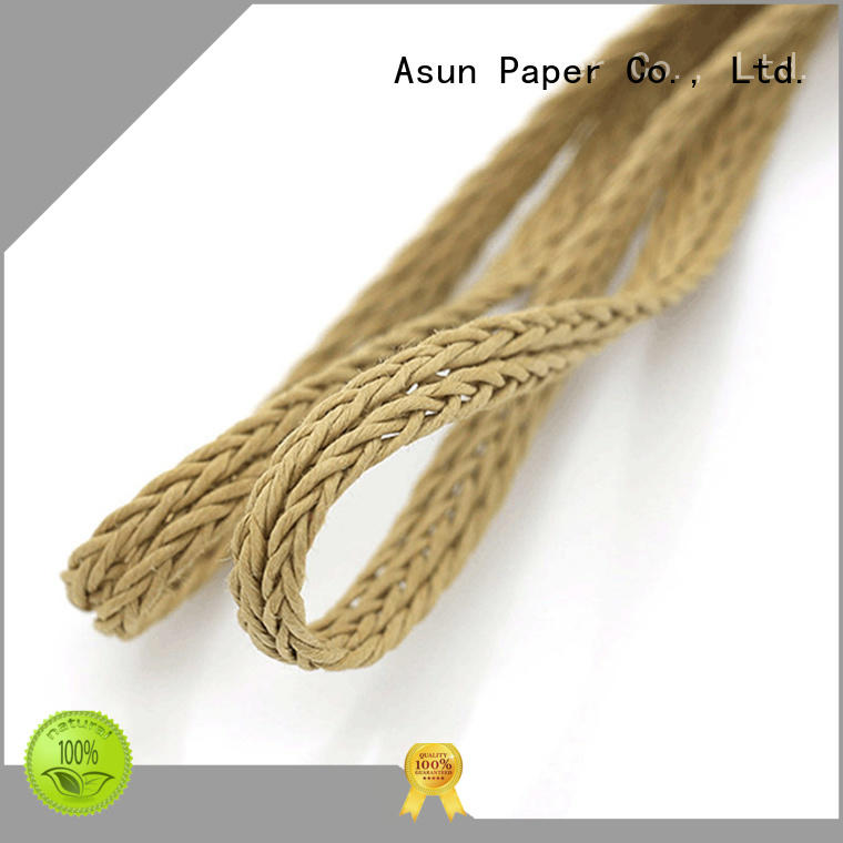 100% Pure wood pulp hollow or core Braided paper twine