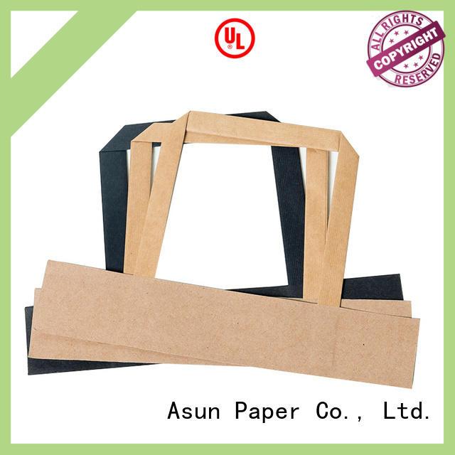 Asun paper rope flat paper handle series for shop