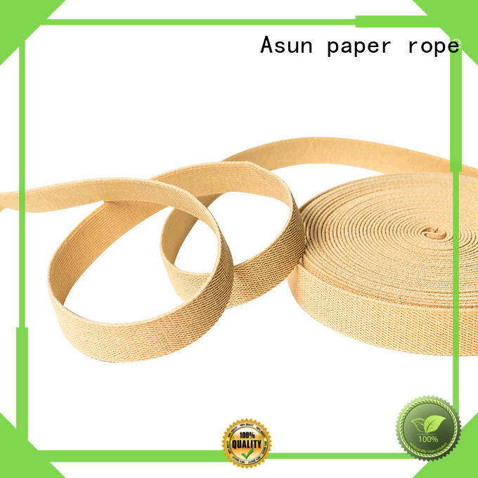 recycle environmental wide paper ribbon Asun paper rope manufacture