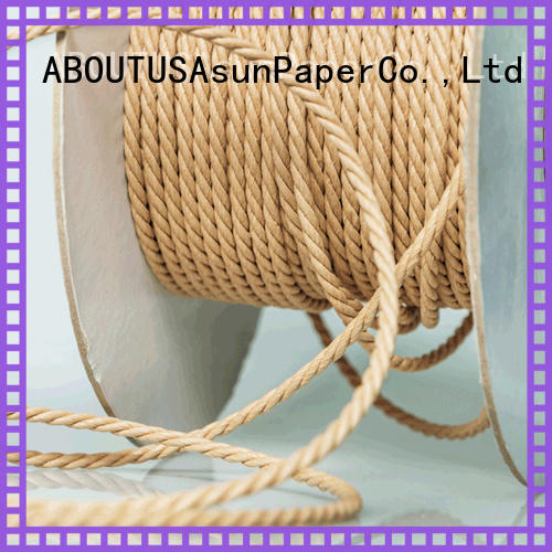 Asun paper rope woven twine rope supplier for pendant light