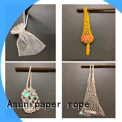 Asun paper rope durable paper string bag design for house