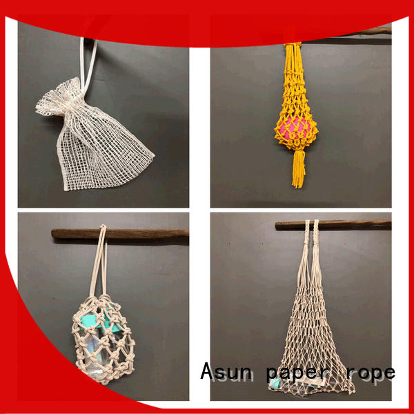 Asun paper rope raffia yarn bag with good price for shop