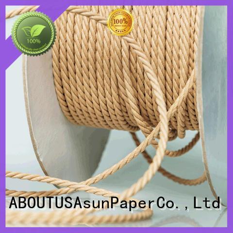 Asun paper rope woven kraft twine for indoor