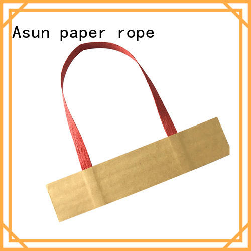 Asun paper rope flat paper handle manufacturer for shop
