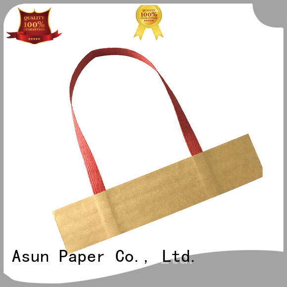 Asun paper rope woven twisted handle paper bags wholesale boxes shop
