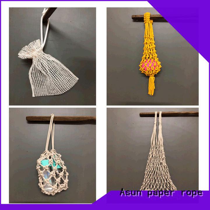 Asun paper rope net raffia yarn bag factory for car