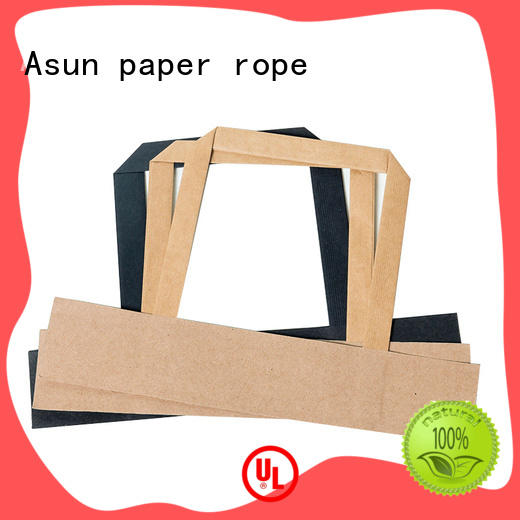 Asun paper rope integrated grocery shopping bag handle for house