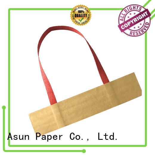 Asun paper rope wrist gift bag handles directly sale for house