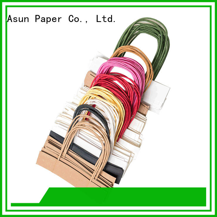 Asun paper rope bag handles wholesale customized for indoor