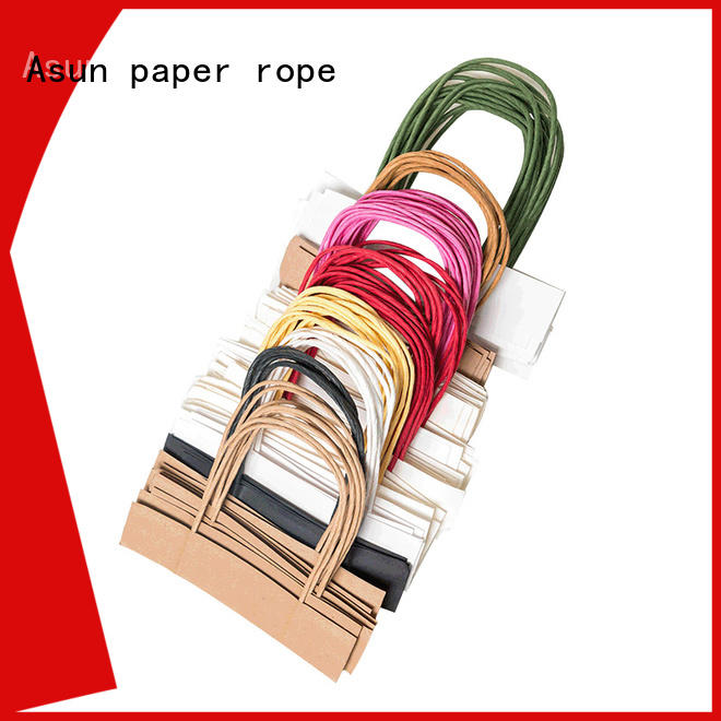 Asun paper rope integrated paper handle manufacturer for indoor
