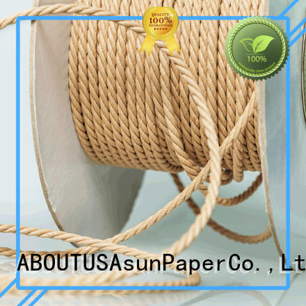 Asun paper rope knitted paper cord wholesale for indoor