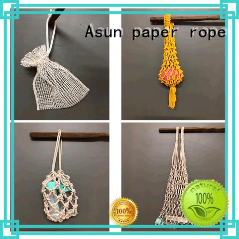 wood raffia yarn bag string indoor
