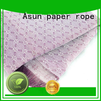 Asun paper rope quality fabric paper design for garment accessories home for furnishing printing &packaging for craftwork