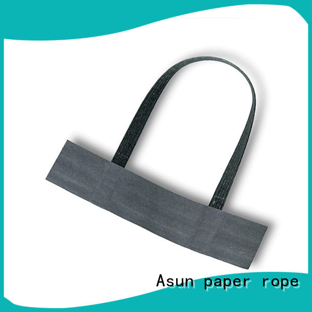 Asun paper rope integrated bag handles wholesale series for flat