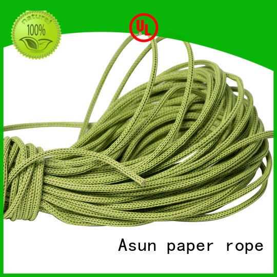 Asun paper rope hollow brown paper twine manufacturer for shoes